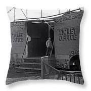 Ticket Office Throw Pillow
