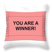 Ticket Red Throw Pillow