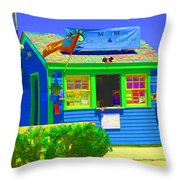 Ticket Shack Throw Pillow