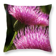 Tickled Thistle Throw Pillow