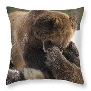 Ticklish Throw Pillow