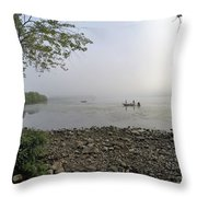 Ticonderoga Bass Fishermen Throw Pillow