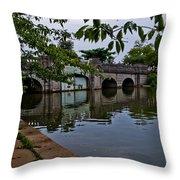 Tidal Basin Inlet Bridge Throw Pillow