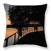 Tidal Basin Sunset0259 Throw Pillow