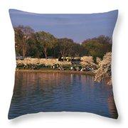 Tidal Basin Washington Dc Throw Pillow