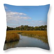 Tidal Creek Ebb And Flow Throw Pillow