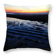 Tidal Ripples At Sunrise Throw Pillow