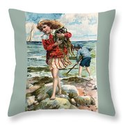 Tide Pools At The Beach Throw Pillow