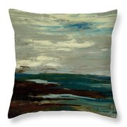 Tide Pools At The Rincon Seashore  Throw Pillow by Cathy Peterson