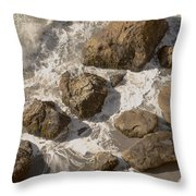 Tide Pools Of Shell Beach California Throw Pillow