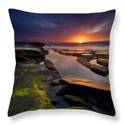 Tidepool Sunsets Throw Pillow