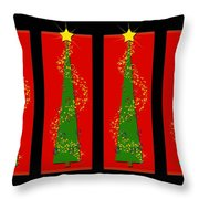 Tidings From Trees Throw Pillow