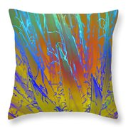 Tie Dye Agave Throw Pillow