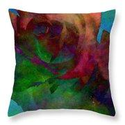 Tie Dye Rose Throw Pillow