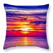 Tie Dyed Sky Throw Pillow