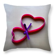 Tied To You Throw Pillow