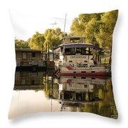 Tied Up Atchafalaya Swamp Louisiana Throw Pillow