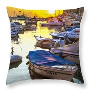 Tied Up In Rovinj Throw Pillow