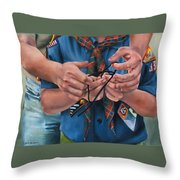Ties That Bind Throw Pillow by Lori Brackett