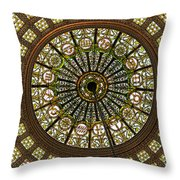 Tiffany Dome Chicago Cultural Museum Throw Pillow