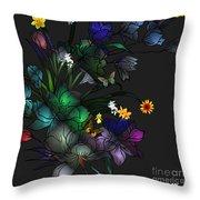 Tiffany Floral Design Throw Pillow