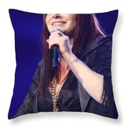 Singer Tiffany Throw Pillow