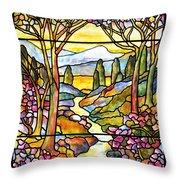 Tiffany Landscape Window Throw Pillow