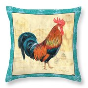 Tiffany Rooster 1 Throw Pillow by Debbie DeWitt