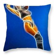 Tiffany Superman 1 Fractal Throw Pillow