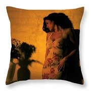 Tiffany Vase Throw Pillow