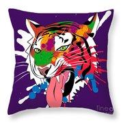 Tiger 11 Throw Pillow