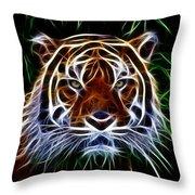 Tiger Abstact Art Throw Pillow