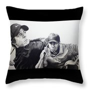 Tiger And Rory Throw Pillow by Jake Stapleton