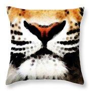 Tiger Art - Burning Bright Throw Pillow