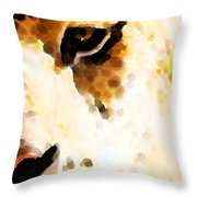 Tiger Art - Pride Throw Pillow by Sharon Cummings
