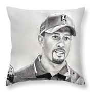 Tiger Club Throw Pillow by Devin Millington