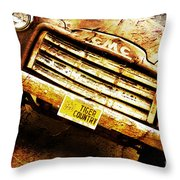 Tiger Country Old School Throw Pillow