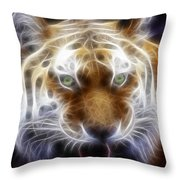 Tiger Greatness Digital Painting Throw Pillow