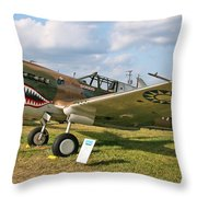 Tiger In The Grass Throw Pillow