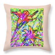 Tiger Lillies Throw Pillow