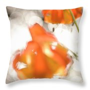 Tiger Lillies Near The Rogue Wild River Throw Pillow