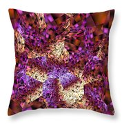 Tiger Lily Abstract Mixed Media Painting Throw Pillow