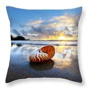 Tiger Nautilus Sunrise Throw Pillow