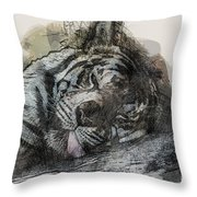 Tiger R And R Throw Pillow