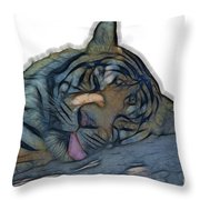 Tiger R And R V4 Throw Pillow