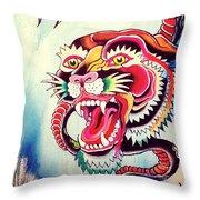 Tiger Snake Throw Pillow