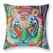 Tiger Stare Throw Pillow