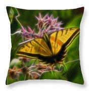 Tiger Swallowtail Digital Art Throw Pillow