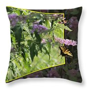Tiger Swallowtail Oob-featured In Beautycaptured-oof-harmony And Happiness Throw Pillow