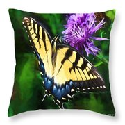 Tiger Takes A Drink Throw Pillow